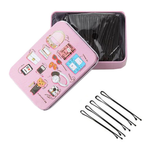 Black Bobby Pins Slides Hair Clips Kirby Grips Clamps Salon Hairdressing Hairpin,H