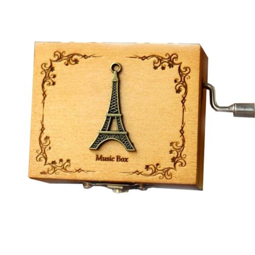 Music Box Mini Hand Crank Music Box Height 1.3 Inch £¨Eiffel Tower