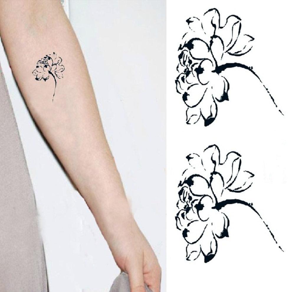 Set of 5 chinese style lotus flower body tattoo stickers waterproof set of 5 chinese style lotus flower body tattoo stickers waterproof fake tattoos 1 izmirmasajfo Gallery