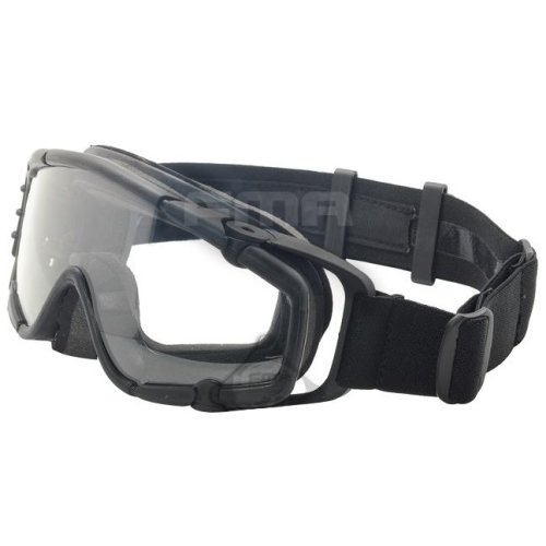Airsoft Paintball Ops Core Jump Fan Anti Fog Clear Si Goggles Glasses Black Swat