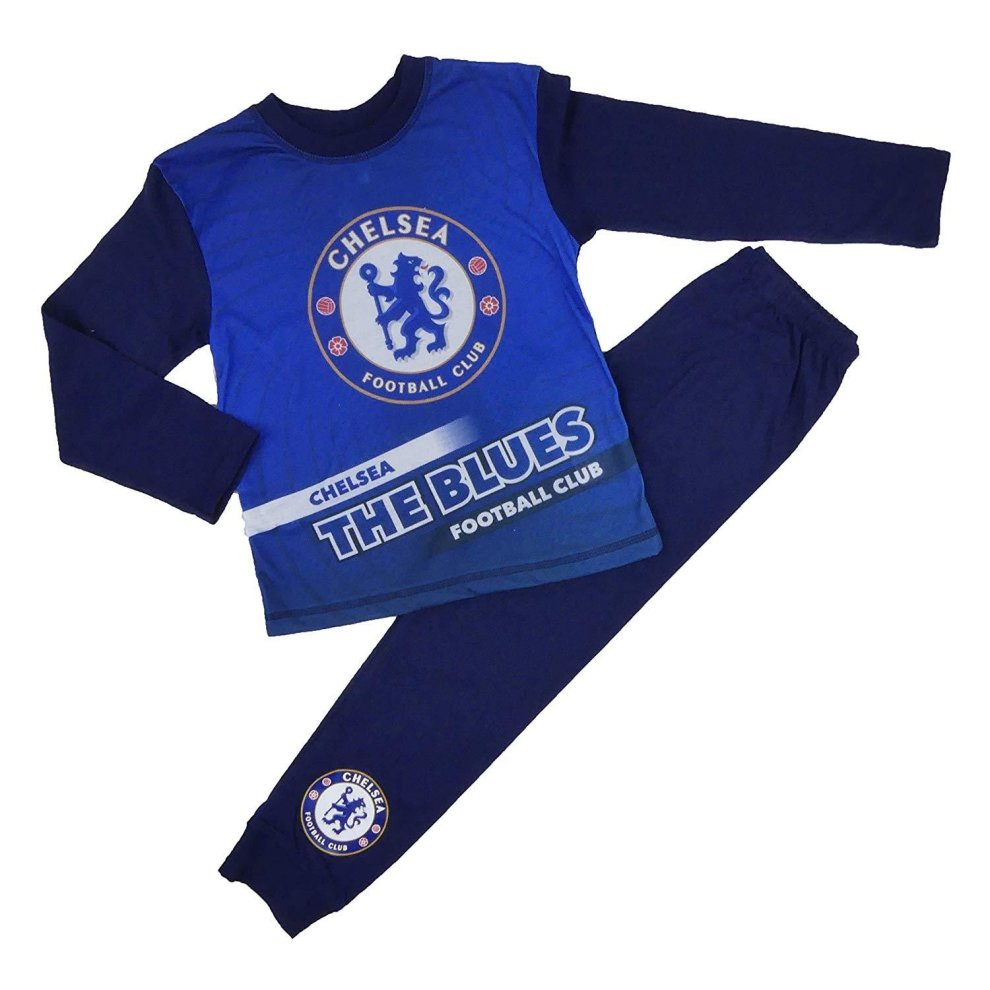 Chelsea FC Football Pyjamas with name /& number Printed on BACK Top and Pants