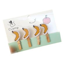 Creative Natural Wooden Lovely Photo Paper Peg Pin Craft Clips with 52CM Jute Twine, NO.4
