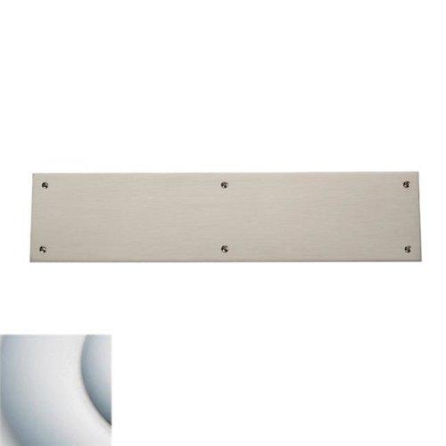 Baldwin 2123264 3.5 x 15 in. Square Edge Push Plate, Satin Chrome