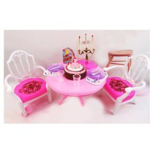 Luxurious 11.5'' Doll Living Room Furniture Set-Dining Table Set 02