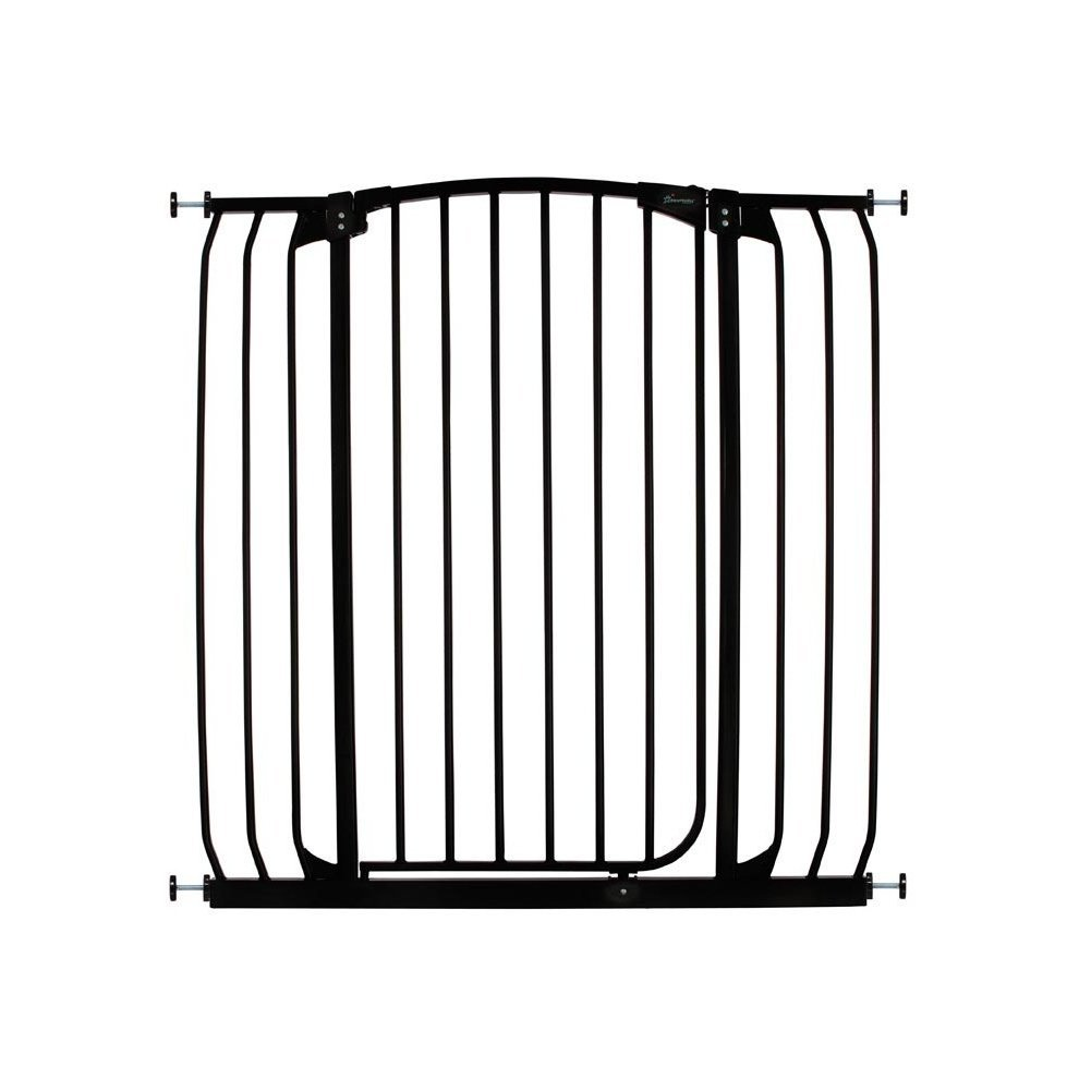 Dreambaby Extra Wide Tall Stair Gate 97 108cm X 1m Black