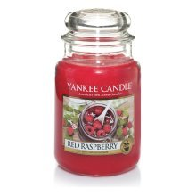 Yankee Candle Red Raspberry Jar Candle, Large - Red