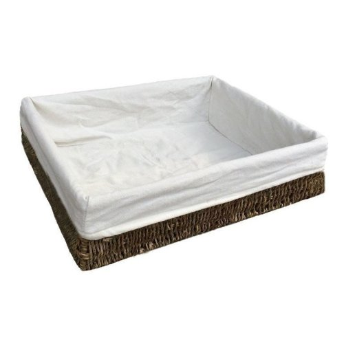 Large Lined Rectangular Seagrass Tray