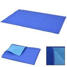 vidaXL Picnic Blanket Blue and Light Blue 150x200 cm