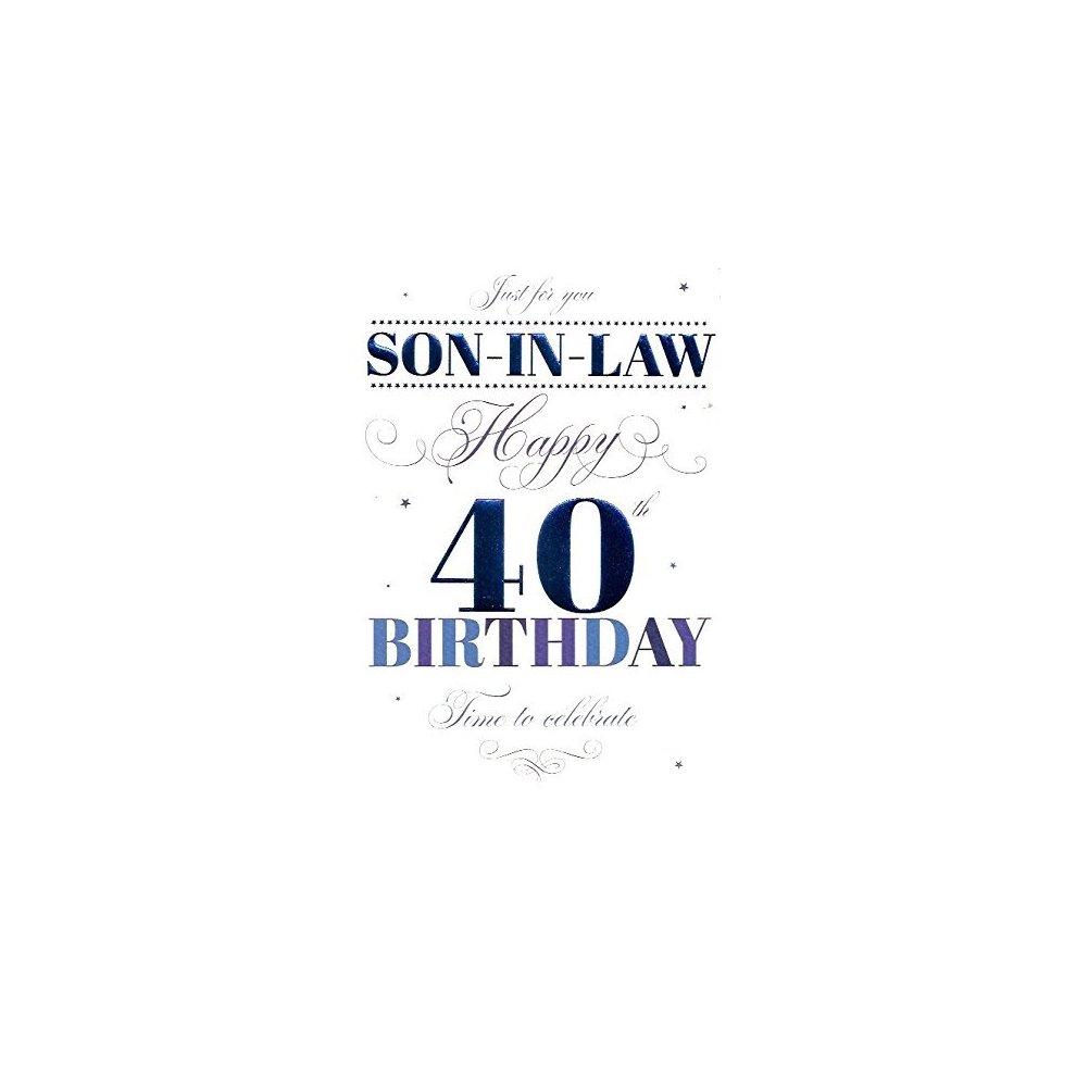 EAN 5034695831606 Happy 40th Birthday Son In Law Card