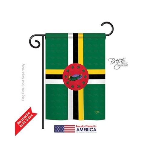 Breeze Decor 58344 Dominica 2-Sided Impression Garden Flag - 13 x 18.5 in.