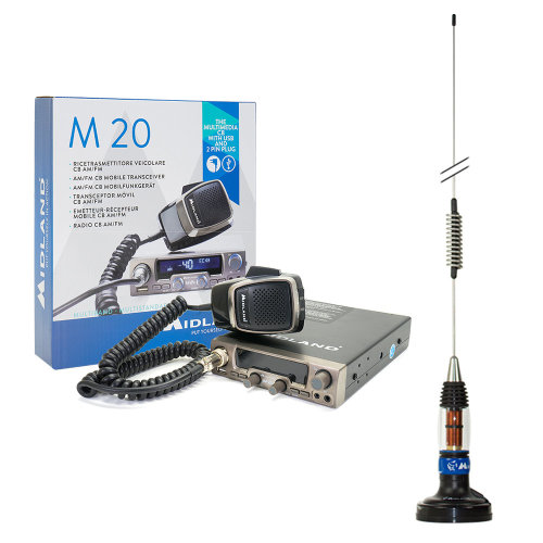 Bundle   CB Radio Midland M20  with CB antenna  Midland LC59 with magnet