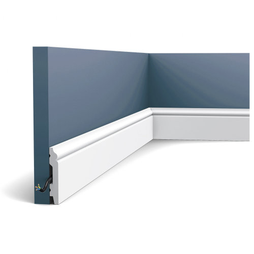 Orac Decor SX165F AXXENT Flexible Skirting Panel Moulding Cable Protection | 2 m