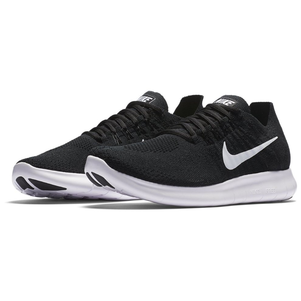 promo code 0d9a6 9e4af ... New Womens NIKE Free RN Flyknit 2017 Running Trainers Black 880844 001  - 4.