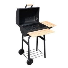 Outdoor Trolley Charcoal Bbq Grill Patio Smoker