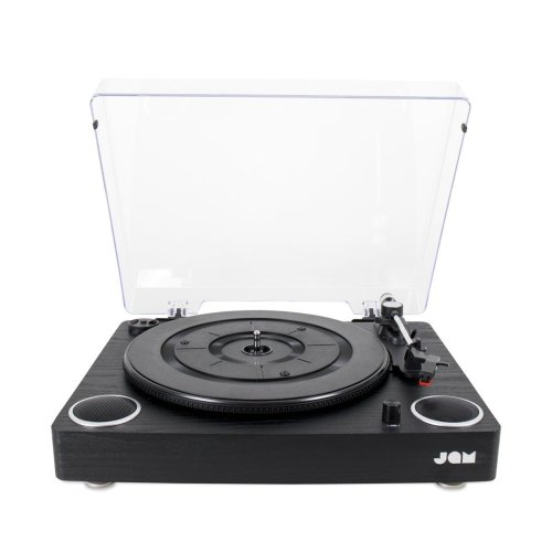 Jam Play Turntable Vinyl Record Player, 3 Speed Belt Drive for Superior Sound, High Quality Ceramic Cartridge, Built in Stereo Speakers, Aux In,...