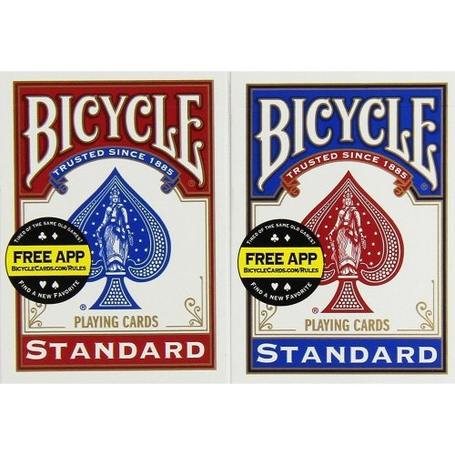 Bicycle Rider Back Playing Cards. Poker 12 decks  (6 Blue 6 Red)