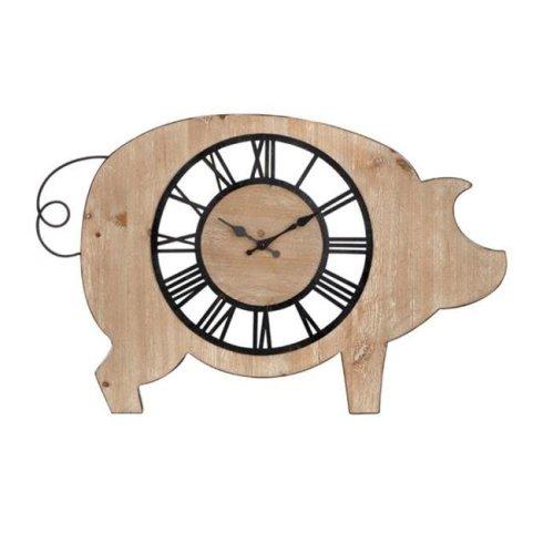 Imax 75091 Piggie Wall Clock, Beige