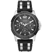 GUESS Black Multi-Function Mens Watch U0366G1