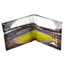 Manchester City Stadium Leather Wallet - Football Fc Panoramic Official Club -  wallet manchester city stadium leather football fc panoramic official