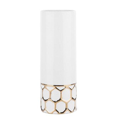 Flower Vase White with Gold RUBI