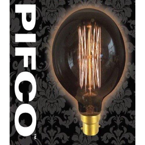PIFCO G95 40 Watt B22 Bayonet Vintage Large Globe Retro Light Bulbs
