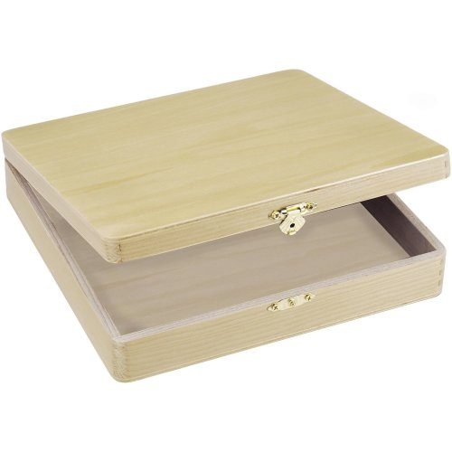 "Darice Unfinished Cigar Box-8.125""X8.375""X1.75"""