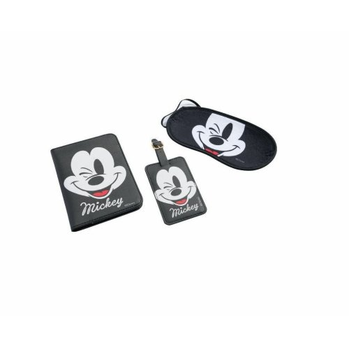 Disney Mickey Mouse Travel Blindfold Passport Cover ID-Tag Suitcase