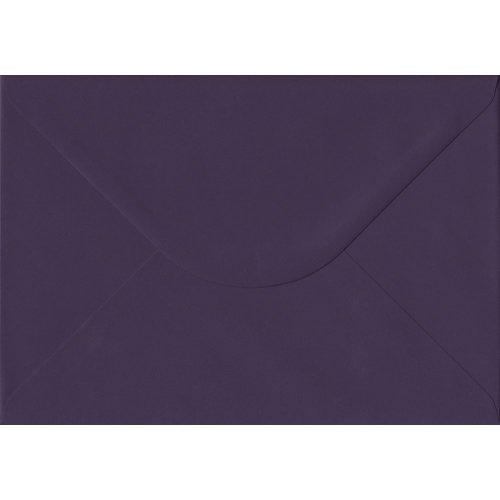Aubergine Gummed C5/A5 Coloured Purple Envelopes. 135gsm GF Smith Colorplan Paper. 162mm x 229mm. Banker Style Envelope.