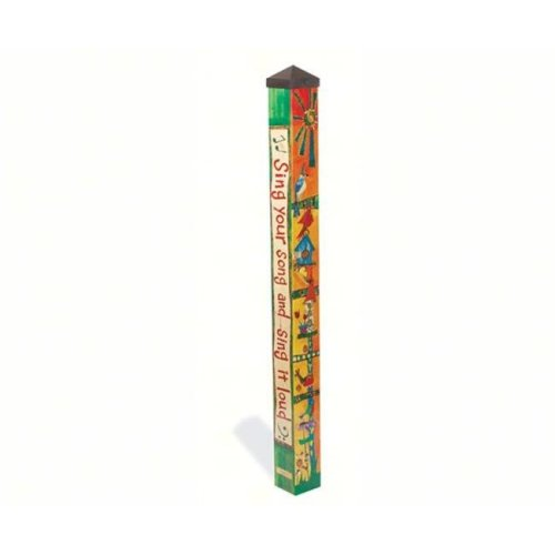 Magnet Works, Ltd. MAILPP228 Feed the Birds 4 ft Art Pole 4x4 + Freight