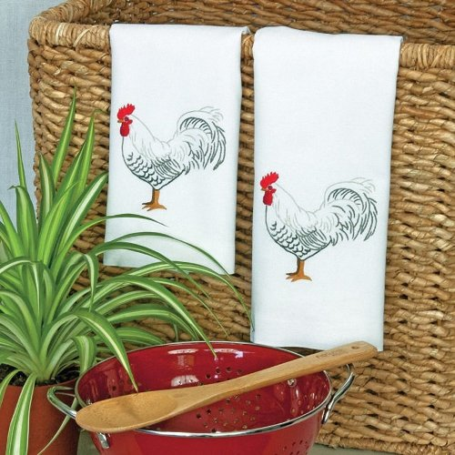 D72-73886 - Dimensions Stamped Embroidery -  Towels: Rooster