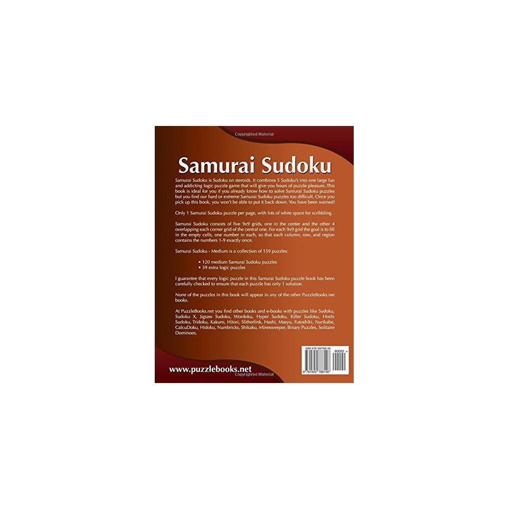 Samurai Sudoku - Medium - Volume 3-159 Puzzles