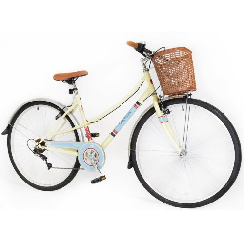 700c Classic Womans Ladies BIKE - Hybrid retro Basket Commuter Bicycle 6 Speed