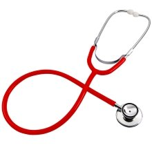Trixes Red Toy Stethoscope for Fancy Dress