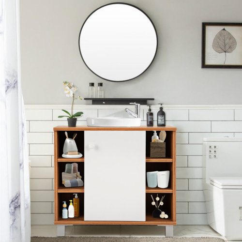 Bathroom Under Sink Storage Cabinet Basin Vanity Unit Cupboard