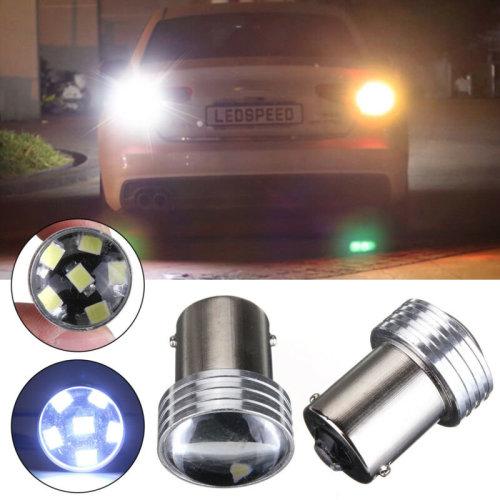 2x 1156 BA15S P21W 6 LED 2835 COB SMD Car Reverse Back Turn Tail Light Bulb UK