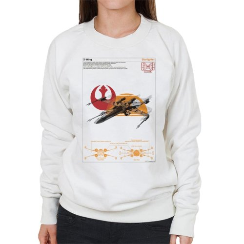 Star Wars X Wing Starfighter Orthographic Women's Sweatshirt