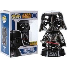 Rare Hot Topic Exclusive Funko Star Wars Darth Vader Chrome Metallic Pop Vinyl Figure