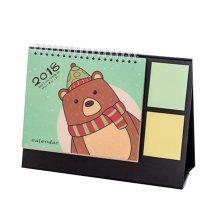 Cute Cartoon Style Desk Calendar Office/Student Tear off Calendar,Green