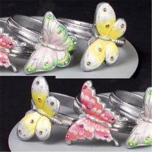 Godinger 8788 Set of 4 Butterfly Napkin Rings
