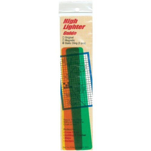 "Yarn Tree Static Cling High Lighter Guides 6""X1"" 3/Pkg-Assorted Colors"