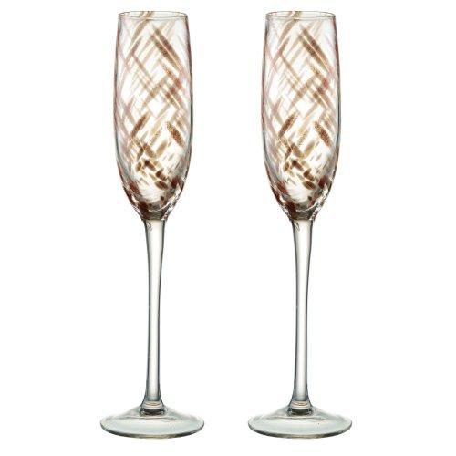 Artland Misty Bronze Champagne Flutes, Set of 2