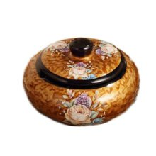 European Retro Ceramic Ashtrays Decent Home Ashtrays With Lids Ornament-A08