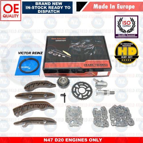 FOR BMW 3 SERIES 320D 2011- UPPER LOWER DIESEL ENGINE TIMING CHAIN KIT SET NEW
