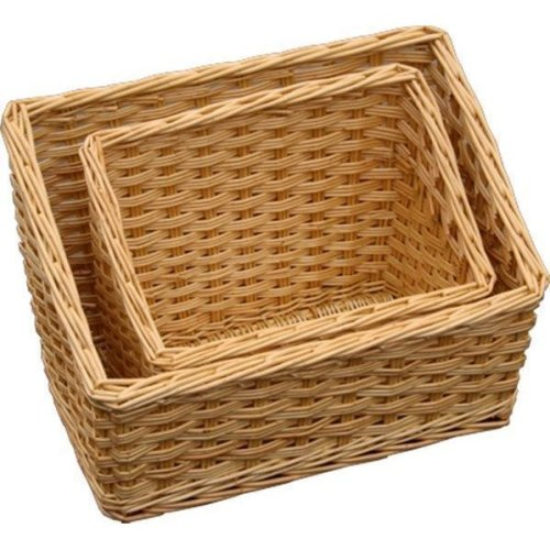 Large Sloped Wicker Display Trays