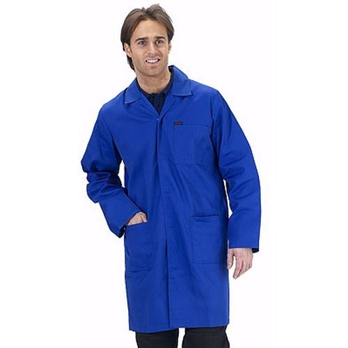 "Click PCWCR34 Polycotton Warehouse Coat Royal Blue 34"""