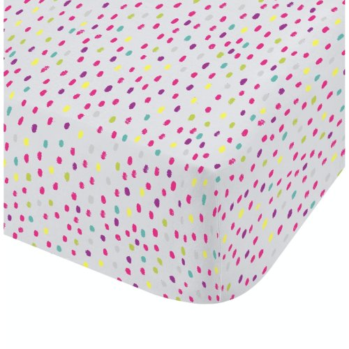 Catherine Lansfield Clouds Easy Care Single Fitted Sheet Multi