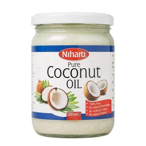 Niharti 100% Pure Coconut Multipurpose Oil 500ml Jar - Used for Hair, Cooking, Skin Moisturiser