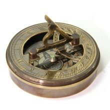Solid Brass Compass in Shoe Polish Tin