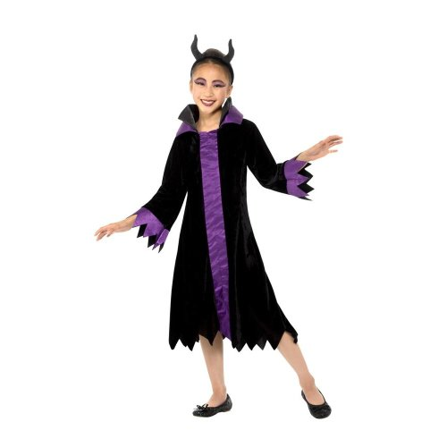 Maleficent Evil Queen Costume Halloween Child Fancy Dress Medium Age 7 9