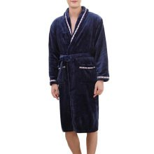 Casual Pajama Set Warm Sleepwear Men/Lovers Flannel Nightgown XX-large-A4